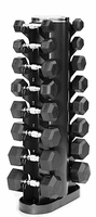 VTX 3-25lb Rubber Coated Dumbbell Set W/Rack $569.00
