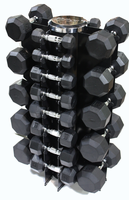 VTX 3-50lb Rubber Coated Dumbbell Set W/Rack $1,289.00