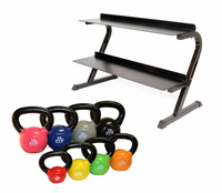 VTX 5-30lb Kettlebell Set With Rack $569.99