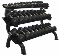 VTX 5-75lb Dumbbells W/ 3 Tier Shelf Dumbbell Rack $2,699.00