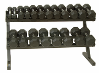 VTX 8 Sided Rubber Encased Dumbbells 5-50lb Set W/ Rack $1,239.99