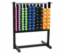 VTX Aerobic Vinyl Dumbbell Set W/Rack