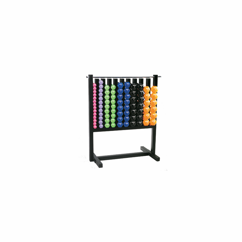 Vtx Aerobic Vinyl Dumbbell Set W Rack