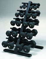 VTX Neoprene Dumbbell Set With Rack