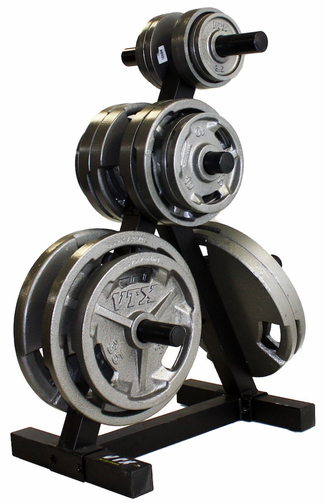 VTX Olympic Grip Weights & Plate Tree Combo