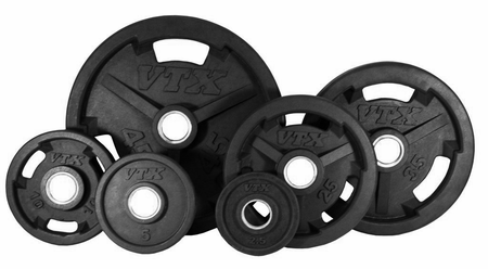 VTX Rubber Olympic Weight Plate Set - 355lbs