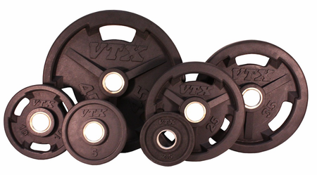 VTX Rubber Olympic Weight Plate Set - 455lbs