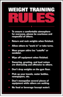 Weight Training Rules Poster - Laminated