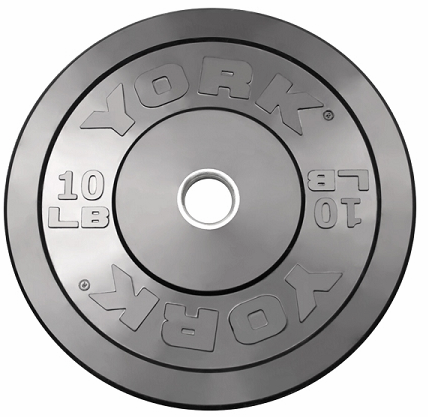 York 10lb Solid Rubber Bumper Plates - Pair