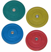 York 230lb Colored Rubber Bumper Plate Set