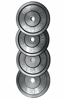 York 230lb Solid Rubber Bumper Plate Set $529.99