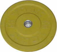 York 25lb Yellow Bumper Plate - Pair
