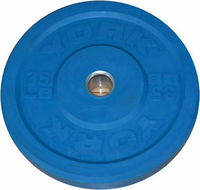 York 35lb Blue Bumper Plate - Pair