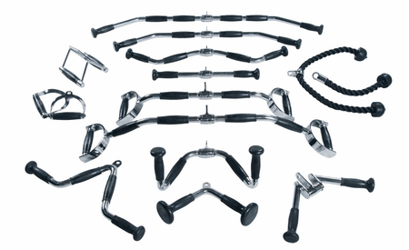 York Cable Attachment Bar Club Pack - 15 Pc. Set