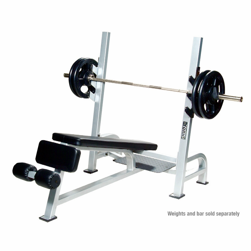 York commercial olympic decline weight bench Weight set and bench