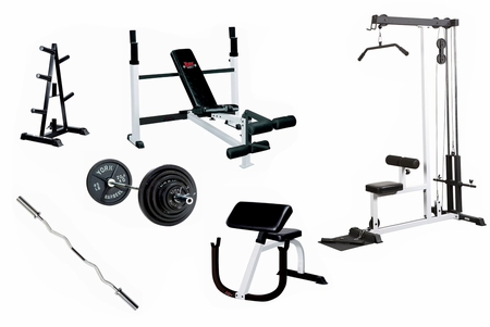 York Complete Gym Weight Lifting Package