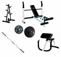 York Home Gym Weight Lifting Package