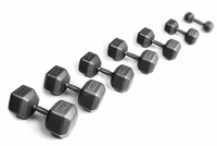 York Iron Pro Hex Dumbbells 3-25lb Set