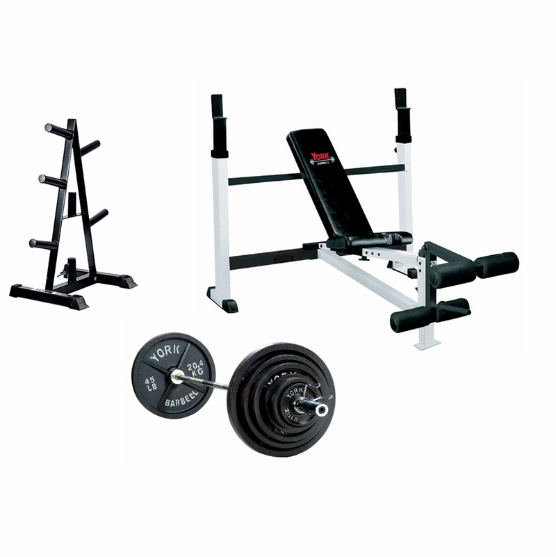 Fitness Giant York Barbell Olympic Weight Benches Iron Pro Hex