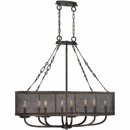 1-2501-8-42 Savoy House Transitional Nouvel 8 Light Oval Chandelier in Galaxy Bronze