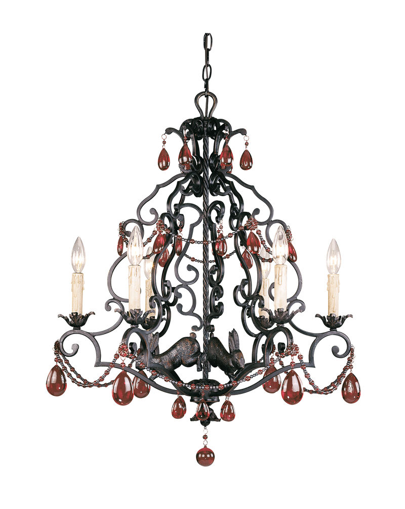 1 9203 6 25 tracy porter lighting scarlet 6 light chandelier in 1 9203 6 25 tracy porter lighting scarlet 6 light chandelier in slate finish wcopper highlights aloadofball Image collections
