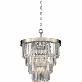 1-9805-4-109 Savoy House Transitional Tierney 4 Light Chandelier in Polished Nickel