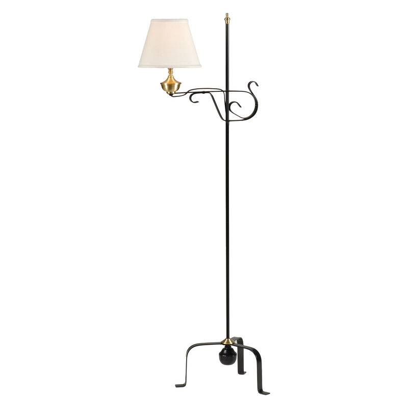1 wildwood lamps colonial floor lamp blacksmithpolished finish mozeypictures Images