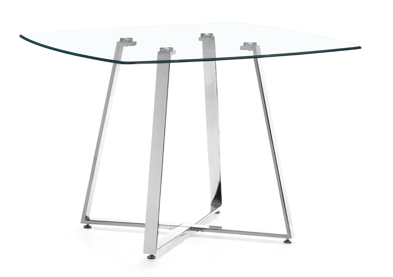 Prime 102195 Zuo Modern Lemon Drop Dining Table In Clear Glass Finish Ibusinesslaw Wood Chair Design Ideas Ibusinesslaworg
