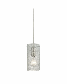 10242/1CL ELK Lighting Ice Fragments 1-Light Mini Pendant in Satin Nickel with Clear Glass
