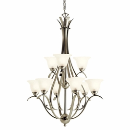 10420NI Kichler Builder Dover 9Lt Fluorescent Chandelier 2 Tier (DISCONTINUED ITEM!)