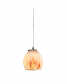 10421/1TS ELK Lighting Melony 1-Light Mini Pendant in Satin Nickel with Frosted Glass