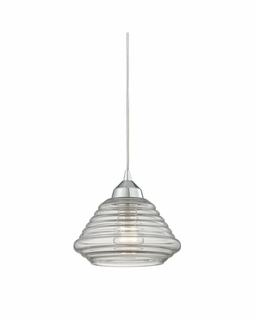 10424/1 Elk Orbital 1 Light Mini Pendant In Polished Chrome And Clear Glass