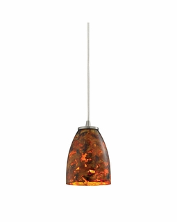10460/1LS Elk Abstractions 1 Light Mini Pendant In Satin Nickel