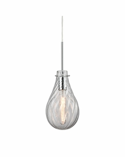 10463/1 Elk Cirrus 1 Light Pendant In Polished Chrome