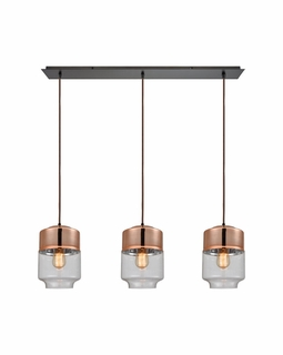 10491/3LP Elk Revelo 3 Light Pendant In Oil Rubbed Bronze