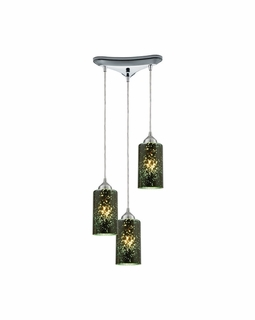 10504/3 Elk Illusions 3 Light Pendant In Polished Chrome