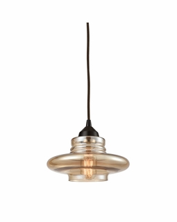 10535/1 Elk Orbital 1 Light Mini Pendant In Oil Rubbed Bronze