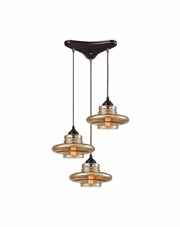 10535/3 Elk Orbital 3 Light Mini Pendant In Oil Rubbed Bronze