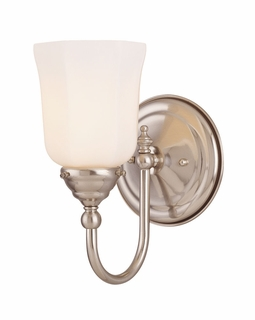 1062-1-SN Savoy House Traditional Brunswick Bath 1 Light Sconce with Satin Nickel Finish