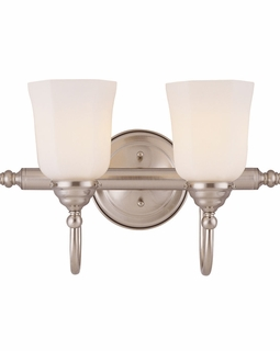 1062-2-SN Savoy House Traditional Brunswick 2 Light Bath Bar with Satin Nickel Finish