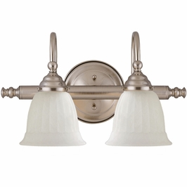 1062-2-SN Savoy House Traditional Brunswick 2 Light Bath Bar in Satin Nickel