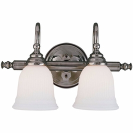 1062-2CH Savoy House Traditional Brunswick 2 Light Bath Bar in Chrome