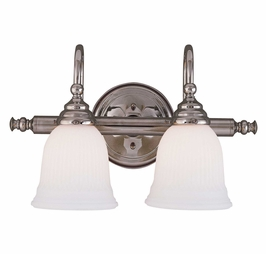 1062-2CH Savoy House Traditional Brunswick 2 Light Bath Bar with Chrome Finish