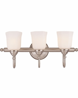 1062-3-SN Savoy House Traditional Brunswick 3 Light Bath Bar with Satin Nickel Finish