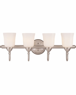 1062-4-SN Savoy House Traditional Brunswick 4 Light Bath Bar with Satin Nickel Finish
