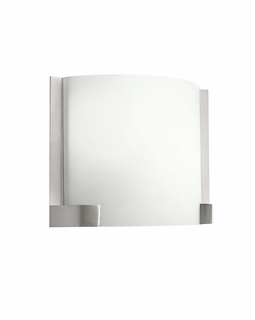 10620NI Kichler Contemporary Nobu Wall Sconce 1Lt Fluorescent - Brushed Nickel