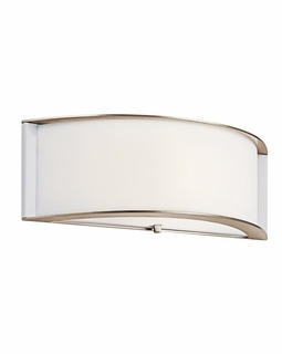 10630PN Builder Transitional Arcola Wall Sconce 1Lt Fluorescent (polished nickel)