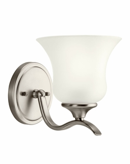 10636NI Builder Transitional Wedgeport Wall Sconce 1Lt Fluorescent (brushed nickel)