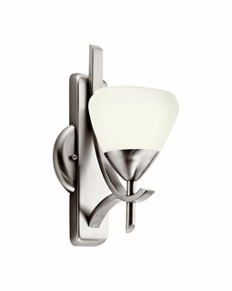 10678AP Kichler Olympia Wall Sconce 1Lt Fluorescent Bracket