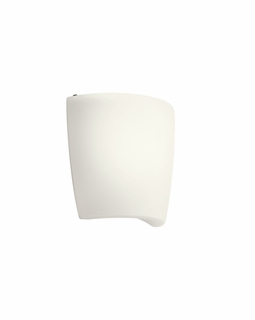 10689WH Builder Contemporary Wall Sconce 1Lt Fluorescent (white)